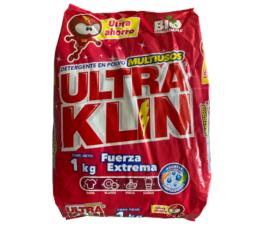 DETERGENTE EN POLVO ULTRAKLIN (1Kg)
