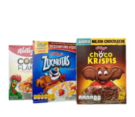 CEREAL 3 PACK ZUCARITAS CORN FLAKES CHOCO KRISPIS