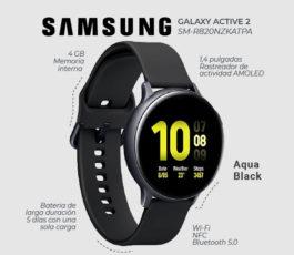 Samsung Galaxy Watch Active 2 (44mm) SM-R820NZKATPA – Aluminum Black