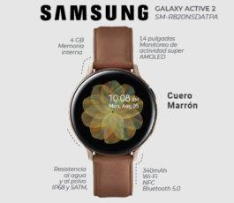Samsung Galaxy Watch Active 2 – 44 mm – acero inoxidable dorado